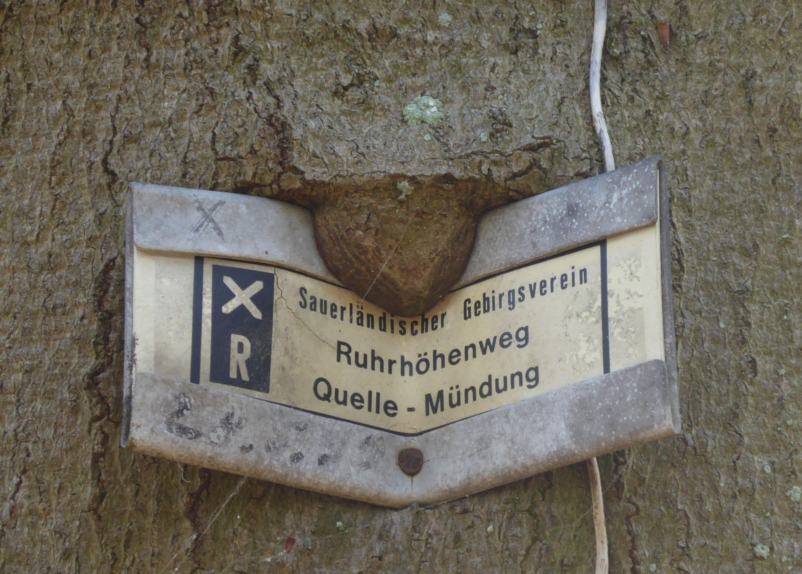 Schild – Höhenweg